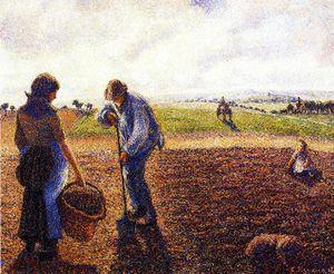 Peasants in the Field, Eragny