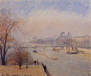 The Louvre, March Mist
