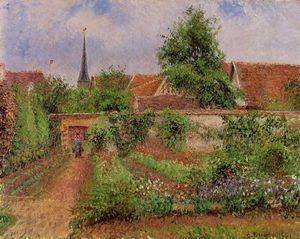 Vegetable Garden in Eragny, Overcast Sky, Morning