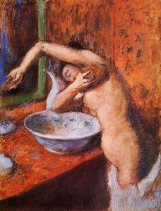 Woman Washing Herself