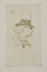 Baudelaire von profil en chapeau