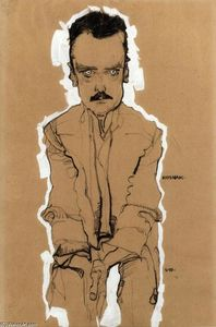 Portrait of Eduard Kosmack, Frontal, with Clasped Hands
