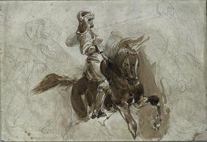 Armored Figure on Horseback