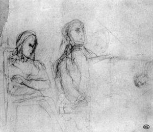 Estudio para el doble retrato de Chopin y George Sand