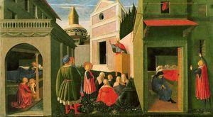 El Nacimiento de San Nicolás, su vocación y la distribución de limosna