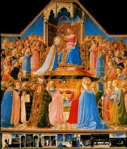 Pala del Louvre. Coronación de la Virgen