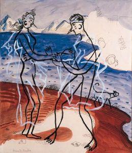 Couple au bord de la mer