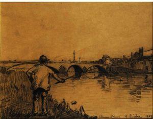 Le Pêcheur À Villeneuve Sur L'yonne
