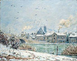 Villeneuve-sur-Yonne sous la neige