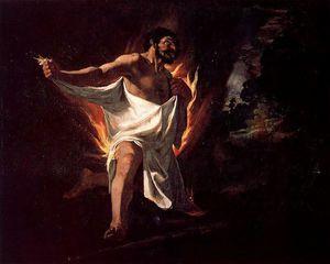 Hércules abrasado por la túnica del centauro Neso