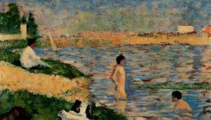 Study for ''A Bathing Place at Asnières''