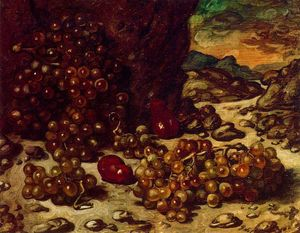 Still Life with rocky landscape