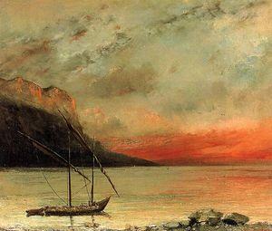 Sunset on Lake Leman
