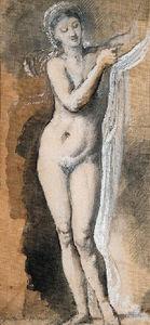 Femme nue (tude avec drap)
