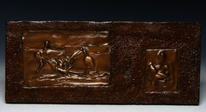 Relief; Three Quarters Mother And Child And Reclining Figure