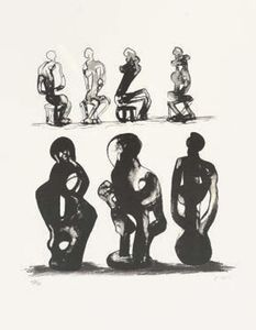 Seated Figures and Ideas for Sculpture 1