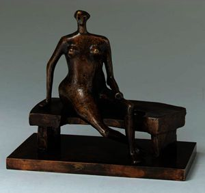 Seated Woman With Crossed Feet