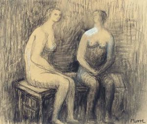 Two seated Women I
