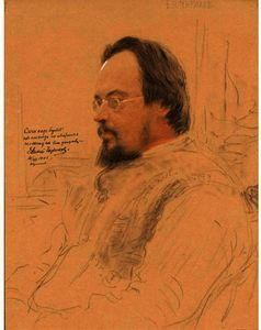A Portrait Of The Russian Poet E.N. Chirikoff