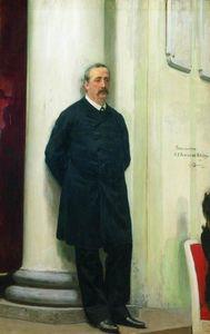 Portrait of composer and chemist Aleksander Porfirievich Borodin