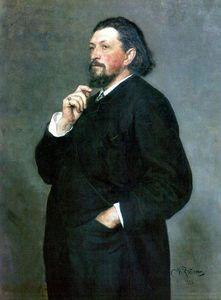 Portrait of music editor and patron Mitrofan Petrovich Belyayev.