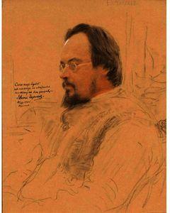 Portrait of writer Yevgeny Nikolayevich Chirikov