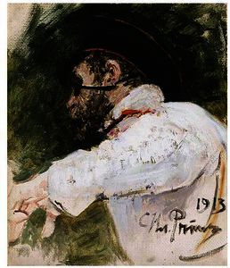 Study Of A Bearded Man In Peaked Cap