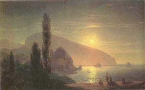 Night at Crimea. View on Aiudag