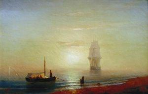 Sunseat on a sea