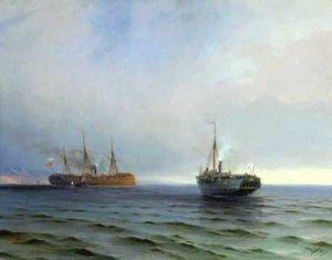 The capture of Turkish nave on Black sea
