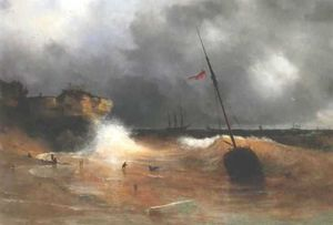 The gale on sea is over