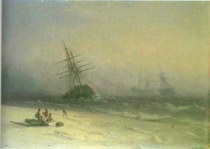 The Shipwreck on Northern sea