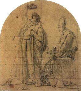 Napoleon Holding Josephine's Crown