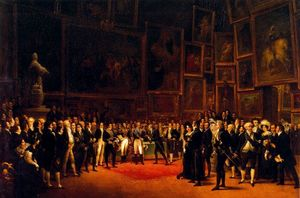 Charles X Bestowing Honors on the Artists of the Salon of 1824