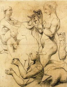 Sketch for The Turkish Bath 1