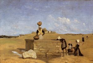 Breton Women at the Fountain