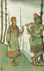 Snegurochka and Lel. Costume design