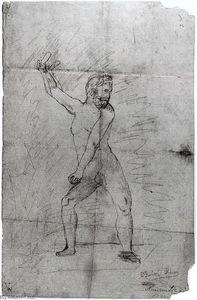 Hércules con su maza