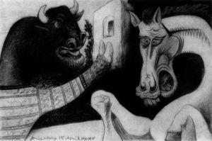 Minotaur and horse