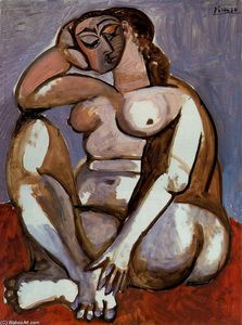 Nude woman sitting 2