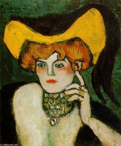 Woman with collar