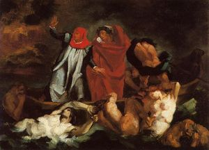 The Barque of Dante (after Delacroix)