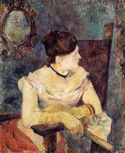 Madame Mette Gauguin in an Evening Dress