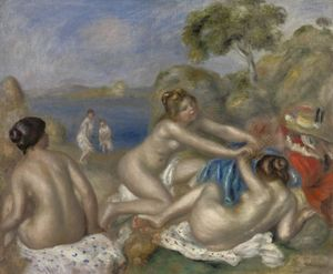Bathers Playing with a Crab