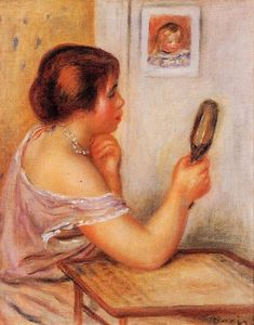 Gabrielle Holding a Mirror with a Portrait of Coco