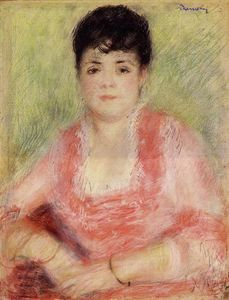Portrait of a Woman in a Red Dress