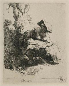 A Woman Beneath a Tree