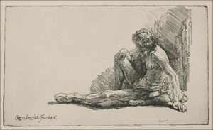 An Acedemical Figure Seated on the Ground