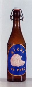 Bottle with label