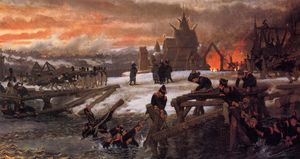 The Crossing of the River Berizina - 1812